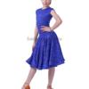 с-регилином-синее Рейтинговое платье